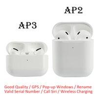 Gen 2 3 AP2 AP3 AP3 TWS Écouteurs H1 CHEP Charnier en métal Chargement sans fil Bluetooth Casque Web Renommer GPS Numéro de série valide Valide