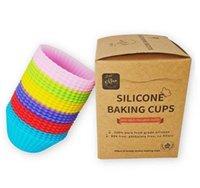 من الولايات المتحدة SILE SILE BING BAKESS القابلة للإصلاح Lons Liners Nonstick الكعك كؤوس كعكة قوالب كب كيك حامل 24 حزم في 6 Rainbow M99C9 RMCID