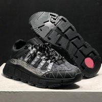 الرجال TRICRECA تشغيل أحذية سلسلة التفاعل التسلل رجل المرأة الأحذية الرياضية جلدية عارضة منصة المدربين خفيفة الوزن وحيد مع مربع