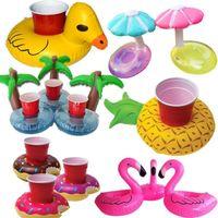 미니 풍선 과일 동물 모양 수영장 음료 컵 스탠드 홀더 플로트 장난감 컵 받침 물 음료 병 해변 코스터