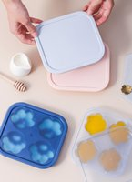 Silicone Baking Moulds Cat-pad Ice Molds with Lid Chocolate Cake Handmake Mold Cube Tray Home Square Maker Bar Tools Kitchen Tool B123