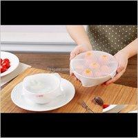 Andere Küche, Essbar 150 Set Wholesale 4 teile / satz Sile Wraps Seal Cover Stretch Cling Film Food Fresh Heep Küchenwerkzeuge 99FO8 BZT5G