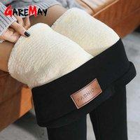 Gearemay высокая талия 12% спандекс теплые брюки зимние тощий толстый бархатный флис девушка леггинсы женские брюки брюки для женщин леггинсы 210901