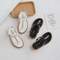 Sandals 2021 Summer Flip-flop Roman For Girls Soft Bottom Nice Rhinestone Beach Shoes Casual With Bow E06082