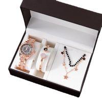 Uhr Schmuckset Set Custom Design 3 stücke Damen Armbanduhren Jewlerly S Zonmfei Marke Geschenk 316 Edelstahl Armband Halskette