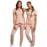 Women's Two Piece Pants Wholesales Women Wear Stylish Scrub Suits Uniform Pant Solid Color Unisex Operating