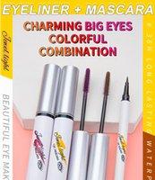 2 en 1 Set de maquillage pour les yeux: Eye-liner et mascara, film à séchage rapide Smooth Excellente trait, 36h durable durable étanche Sweat