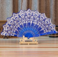 Other Home Decor Folding Fans Chinese Spanish Style Dance Wedding Party Lace Silk Hand Held Flower Fan Colorful Decorative Abanico Gifts