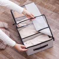 Multifunctional Cloth Transparent Shoe Boxes Underwear Socks Bra Separator Storage Dust Proof Bed Bottom Wardrobe Drawer Box