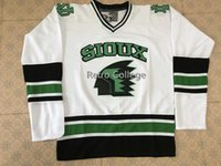 North Dakota Fighting Sioux University White Hockey Jersey Men's Embroidery Stitched Customize any number and name Jerseys