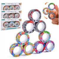 Magnetic Rings FavorS Fidget Spinner Toy for Anxiety Relief Stress Sensory Toys Therapy Pack Adults Teens Kids Stock DHL CS03