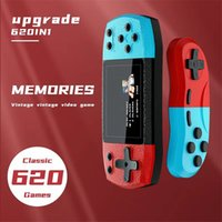F1 Handheld Red-Blue 8 Bit Classic Retro Game Console Support AV Output TV Video Doubles Players for FC Arcade 620 Bulit-in Games Box