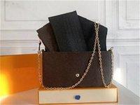 Original High Quality Luxurys Designers Bags Purse Woman Fashion Monogrames Multi Pochette Felicie Chain Crossbody Shoulder Bag With Box DustBag A 06