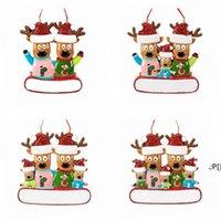 Kerst Ornament Opknoping Rendier Familie Decor voor Kerstmis Thuis Kantoor Kamer Decoratie Ambachten met String Geassorteerde Hangers BWF11357