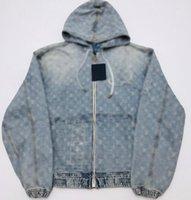 21SS французское совместное название Весна и осенью последняя мода мотоцикл мужская мульти вышивка патч свободные молнии капюшон куртка знаменитый мужской дизайнер все-матч джинсовая куртка