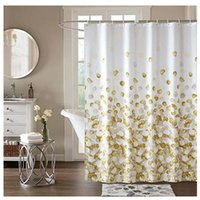 Shower Curtains Curtain Set For Bathroom, Fabric Fall Heavy Duty Waterproof Colorful Funny (Gold)