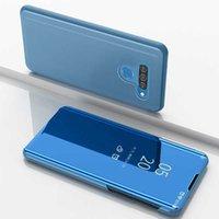 Para Deyonta Clear View Phone Case LG V40 V30 V30 Casos Escotados Espelho Flip Cover LG V50 V40 G8 Thinq Q60 Back Habitação Coque Bunda