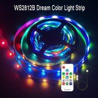 Strips DC5V WS2812B Led USB Strip 30LED RGB RGBIC Remote Control TV Backlight Individually Addressable Living Room Decoration 1-5M
