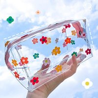 Storage Bags Transparent Big Pencil Case PVC School Supplies Bag Stationery Gift Back To Box Cosmetic