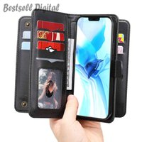 Fashion Flip Wallet Case For Samsung Galaxy S9 S10 S20 S10E Note 10 20 Plus Ultra Lite Leather Cover 10 Cards Strap Holder Phone Coque