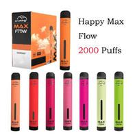 E-cigarettes Hyppe Max Flow Disposable Vape Pod Device 2000 Puffs 960mah 6ml Prefilled Cartridge Pen VS Puff Bang Pro Stick Kits