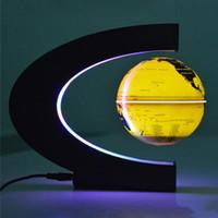 2021 الجدة c شكل أضواء الليل التعلم عدة led خريطة العالم العائم غلوب المغناطيسي levitation ضوء مضادة السحر ماجيك الإضاءة الداخلية ديكور المنزل مصابيح الرواية