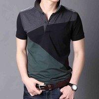 Поло летние короткие рукава Harajuku Корея мода полосатые рубашки мужские верхние тройники одежда
