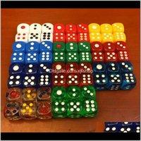 Жарец 12 мм 6 постепенно округлые обычные кубики рутинные цветные бозонные акриловые ktv бар питьевая игра MACHJONG HINE Dice Good Price MC9 KGW0P