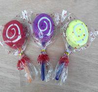 수건 20 조각 롤리팝 케이크 다채로운 사탕 크리 에이 티브 선물 수건 면화 사랑스러운