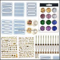 Craft Tools Arts, Crafts Gifts Home & Gardendiy Pin Casting Mold Set Kit Includes 30 Pieces Hair Clip 5 Sile Jewelry Epoxy Resin Hairpin Mol
