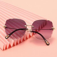 Sunglasses Round Cat Eye Metal Sexy Vintage Men Women Designer Cateye Sun Glases UV400 Retro Female For