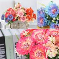 Decorative Flowers & Wreaths Artificial Silk Flower Daisy 1 Pcs 7 Heads Bouquet Balcony Garden DIY Party Wedding Home Decoration