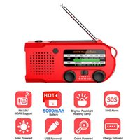 Radio Portable Solar Hand Crank USB Charger FM AM WB ALERT Emergency Weather 5000mAh Power Bank 3 LED