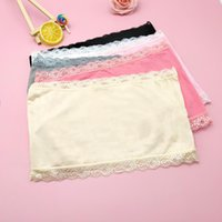 Bustiers & Corsets Lace Tube Tops Girls Crop Bra Fashion Sexy Underwear Students Soft Intimates Clothes Vest