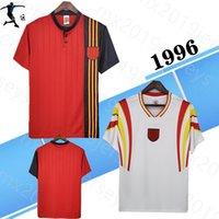 1996 Avrupa Kupası Ev Uzakta Retro Futbol Jersey İspanya Vintage Donato Amavisca Guerrero Pizzi Alfonso Hierro 96 Klasik Futbol Gömlek