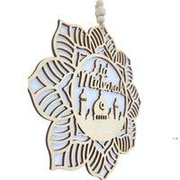 Newwooden Ramazan Parti Süsleme Eid Mübarek Mektuplar Cami Asılı Kolye 4 adet / takım Eids Al-Fitr Kutlama Dekoratif Malzemeleri HWD5997