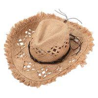 Summer Hollow Raffia Hat Women Seaside Vacation Sunshade Sun Hat Man Fashion Modeling Jazz Hat Wholesale