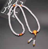 Ketting Star Moon Bodhi Kettingen Sieraden Pipal Tree Seed 108 Stks Imitatie Bijenwas Hanger Armband KKB7431