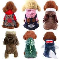 19 Color Cute Cartoon Dog Apparel Turned Small Dogs Clothes Winter Warm Transformed Hoodies Four Legs Clothing Hoodie Cosplay Pet Coat Jacket Christmas Costume A123