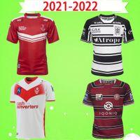 2021 Wigan Warriors Hull Kingston Wanderer Rugby Jersey Wilford Dublin 21 22 Hull FC Saint Helens Santos Camisa Treinamento Home Away Retro Tamanho S-5XL T-shirt 2022 Super