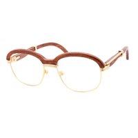 맑은 선글라스 나무 여성 남성 남성 포장 GAFAS 및 고글 클럽 운전 라운드 레트로 음영 안경 안경 GGJJL