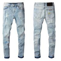Homem pano-montagem calça homens jeans outono longo calças cópia geométrica botão moda voar letra padrão de alta qualidade