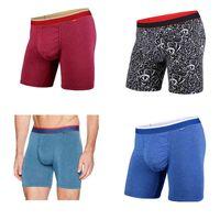 BN3th Rastgele erkek Renkler Klasik Boxer Kısa Iç Çamaşırı Destek Kılıfı ve Dikişsiz Pucker Panel, Yumuşak Modal Kumaş ~ Kuzey Amerika Boyutu