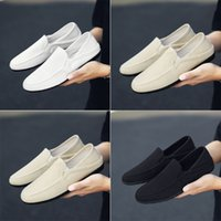 Summer casual shoes canvas fisherman linen breathable white beige black suitable for slow walks to visit friends
