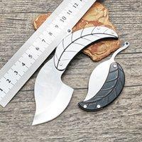 6Pcs Lot High Quality Leaf Folding Knife 3C13Mov Satin Blade Steel Handle EDC Gift Knives 2 Handles Colors