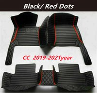 FOR Volkswagen CC 2019-2021year Custom Car Splicing Floor Mats Waterproof Leather Wear-resistant Non-toxic Tasteless and Environmentally Friendly Foot Mats