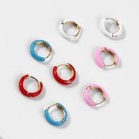 Fashion Geometric Simple Bohemian Copper Alloy Water Drop Multicolor Earrings Ladies Accessories Party Hoop & Huggie