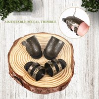 Sewing Notions & Tools 2PCS Retro Finger Protector Antique Thimble Ring Handworking Needle Needles Craft Household DIY Accessories