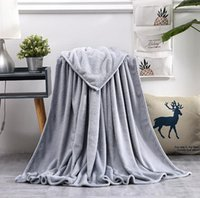 Soft Warm Coral Fleece Flannel Blanket For Beds Faux Fur Mink Throw Solid Color Sofa Cover Bedspread Winter Plaid Blankets WLL-WQ135