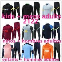 2021 2122 Futbol Eğitimi Futbol Eşofman Takım Elbise Ceket 2022 Çocuk Erkekler Yetişkinler Erkek Survetement Ayak Koşu Chandal Futbol Kiti